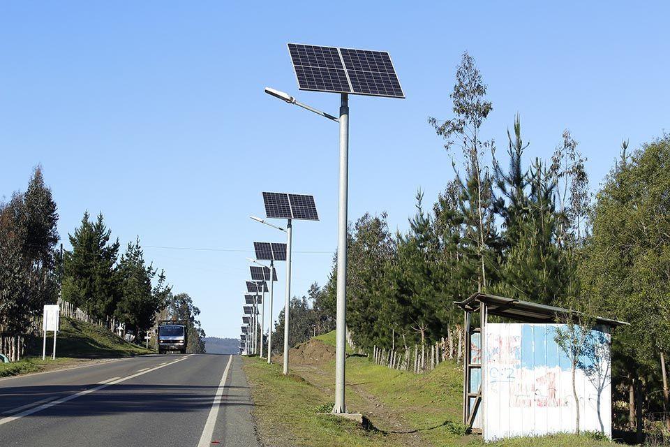 luminarias solares para alumbrado publico